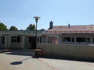 Blick auf die neue Fassade des Martin-Luther-Kindergartens