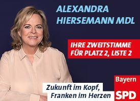 Alexandra Hiersemann MdL. Ihre Zweitstimme für Platz 2, Liste 2