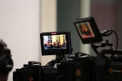 Für den Livestream immer im Einsatz: Die Kameras.