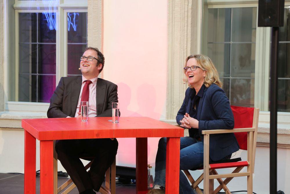 Kurz vor dem Start: Florian Janik und Natascha Kohnen
